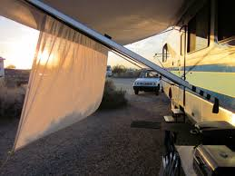Rv Awning Sunscreen Rving The Usa Is Our Big Backyard Motorhome Modifications A