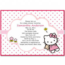 kitty baby shower invitations bs068