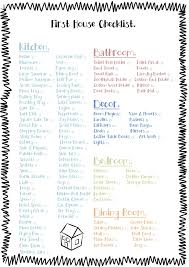house checklist free printable check list for the essentials to buy for a first