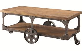 Rustic Coffee Table With Wheels Coffee Table In Rustic Brown By Coaster W Options