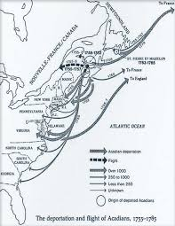 Map Of The New England Colonies by L U0027acadie Historic Heritage Of Louisiana