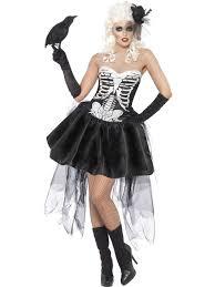 Burlesque Halloween Costumes Skeleton Ladies Fancy Dress Halloween Costume