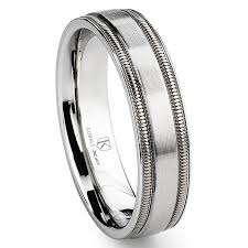 milgrain wedding band cobalt xf chrome 6mm brush finish milgrain wedding band ring