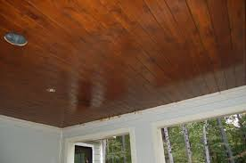 stained tongue and groove porch ceiling www energywarden net