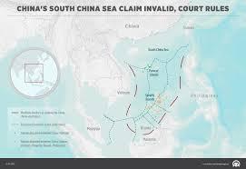 Map Of China And Taiwan by China U0027s South China Sea Claim Invalid Court Rules