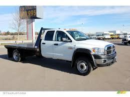 Dodge Ram 4500 - 2009 bright white dodge ram 4500 slt crew cab 4x4 flat bed stake