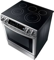 Slide In Cooktop Samsung 5 8 Cu Ft Slide In Electric Range With Dual Convection