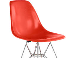 eames molded fiberglass side chair with wire base hivemodern com