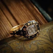 mourning ring sentimental antique date 1857 enamelled mourning ring