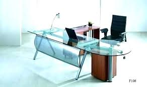 glass top office desk office depot office desk lesdonheures com