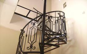 Wrought Iron Banister Rails Interior Spiral Staircase Jpg Wrought Iron With Custom Railing