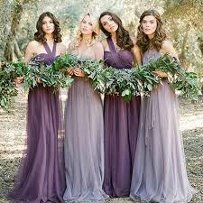 bridesmaids dresses convertiable mismatched tulle wedding party dresses cheap