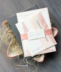 beach wedding invitations blush peach and grey wedding