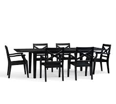 Black And Wood Dining Table Hampstead Painted Rectangular Extending Dining Table Chair Set