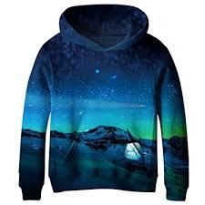 galaxy sweater sky boys blue galaxy pockets sweatshirts hooded