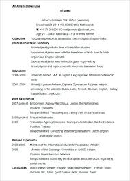 resume templates word 2010 sle resume microsoft word sle resume template curriculum