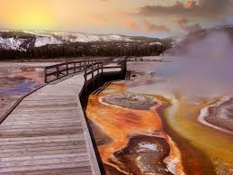 what color are guide signs the science behind yellowstone u0027s rainbow spring travel