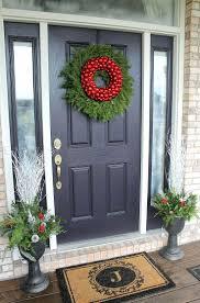 Wreath For Front Door Flower Wreaths Front Door Large Outdoor Chevron Burlap Spring