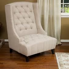 Linen Chair Slipcover White Linen Wingback Chair Slipcover And Short Black Wooden Legs