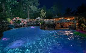 pool u0026 spa lighting paradise restored landscaping