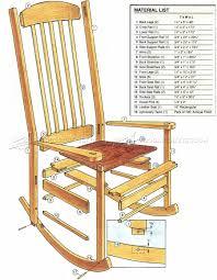 craftsman rocking chair plans u2022 woodarchivist