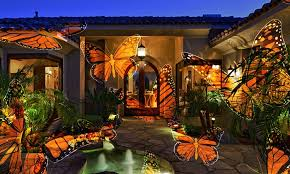 themed outdoor motion light projector groupon