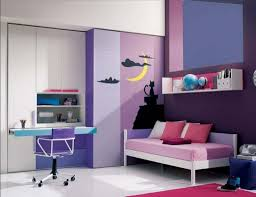 interior great purple theme home decoration with fabric sofa in