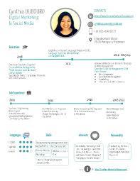 simple creative resumes cynthia dubourd resume short creative simple version cv