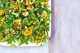 cuisine courgette courgette asparagus and hazelnut salad tesco food