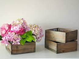 box wooden wood box wooden boxes vase succulent planter wedding