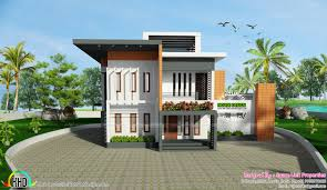 contemporary style home 2717 square feet contemporary style home kerala home design