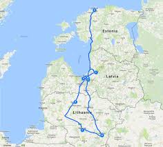 Canada Road Trip Map by Ultimate Baltic Road Trip Itinerary A Drive Through Lithuania
