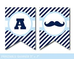 mustache party baby blue mustache party banner with stripes mustache baby shower