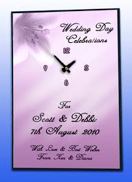 wedding clocks gifts pink flower themed wedding day clock gift personalised wedding