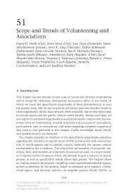 scope and trends of volunteering and associations springer