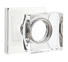 Emtek Glass Cabinet Knobs Emtek Modern Square Crystal Door Knob
