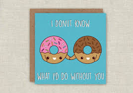 friendship cards mothers day card donut greeting card doughnut card