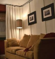 Ikea Basement Ideas Unfinished Basement Guest Room Using Ikea Curtains Around The