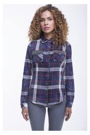 Scotch Plaid Plaid Shirt With Pocket Beads