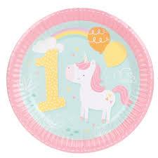 wedding party plates 8pcs 7inch unicorn 1st birthday wedding party supplies