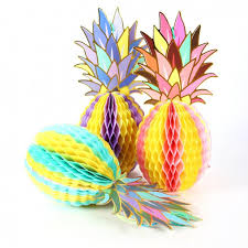Paper Pineapple Decorations Fantastic Honeycomb Pineapple Crafts Festival U0026 Party Supplies