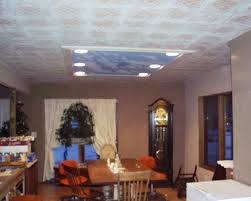 How To Put Up Tin Ceiling Tiles by Tin Ceiling Tile Look For Almost Free With Plaster And Paint