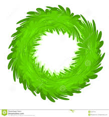 wreath green blank stock illustration image 2232743
