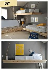 Ana White Easiest Hanging Daybed DIY Projects - Suspended bunk beds