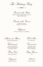 Examples Of Wedding Ceremony Programs Wedding Programs Examples Sop Example