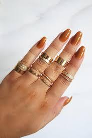ring set golden goddess ring set gold