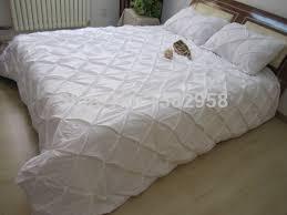 online shop white diamond pintuck duvet cover set 3 pc pure