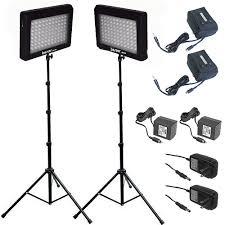 bescor led 95dk dual led light kit with extended led 95dk2b b h