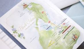 Block Island Map Lucas Invitation Custom Gallery Anticipate Invitations