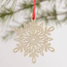 laser cut wood snowflake boxed ornaments 12 pack world market